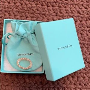 Tiffany and Co. silver mesh ring size 8